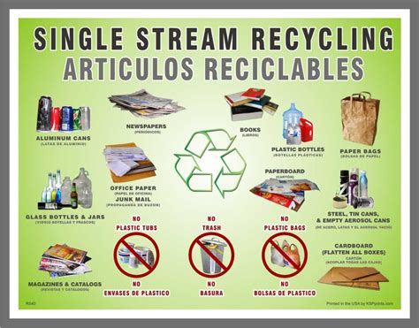 about program waste management single stream recycling stock bi lingual single stream recycling recycling decal