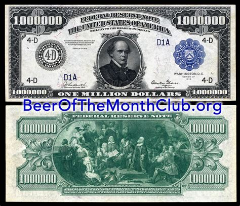 The Story of the Real $1,000,000 Dollar Bill | Beer of the ... $1000000 Bill