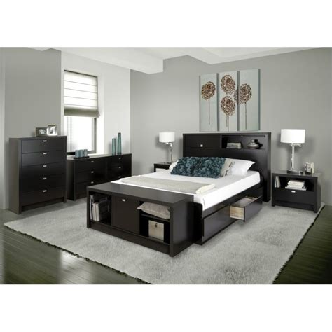 bedroom pieces 4 piece bedroom set in black bhfx 0502 1 4pkg