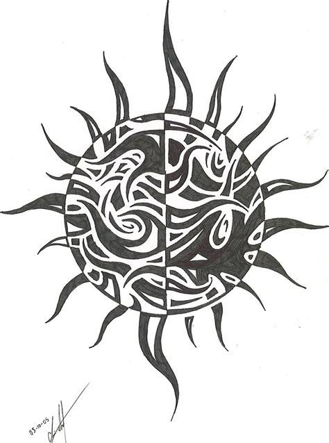 tribal sun tattoos pictures captain of tribal sun tattoos designs pictures