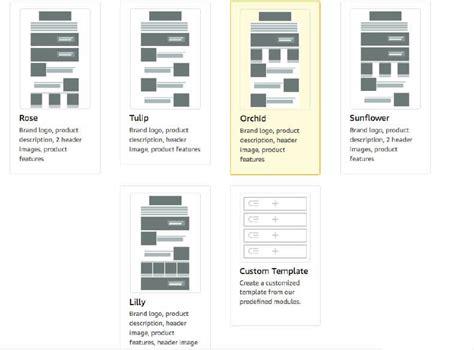First Peek At Amazon S New Enhanced Brand Content Modular Templates Enhanced Brand Content Templates