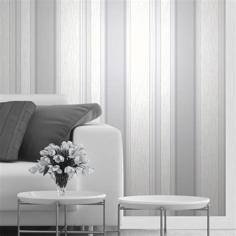striped wallpaper grey and white synergy glitter stripe wallpaper in dove grey and silver