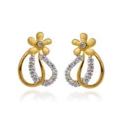 gold ear ring image earrings flower hoop gold earring grt jewellers
