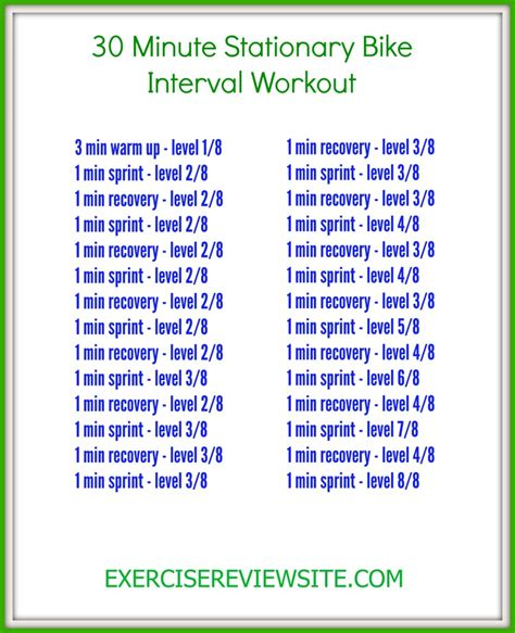 how to do interval on a stationary exercise bike