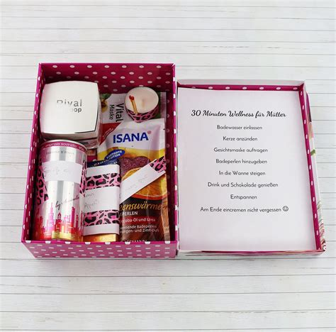 Diy Geschenke Muttertag by Sch 246 Ne Diy Geschenkidee F 252 R Frauen Wellness Paket