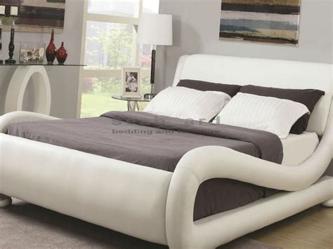 bedding furniture coaster 300070 kingsburg white modern bed in myrtle beach