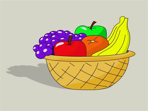 fruit drawings how to draw a basket of fruit 8 steps with pictures