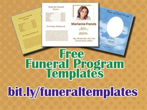 45 best funeral template images on pinterest memorial