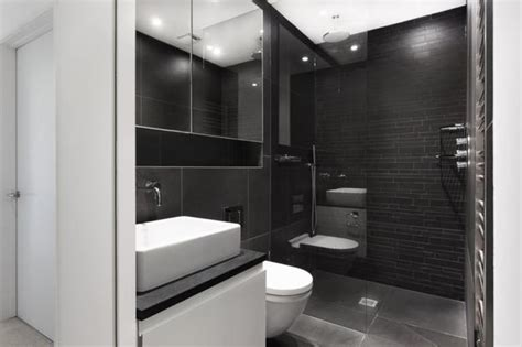 black n white bathrooms glass addition giving contemporary look to old house