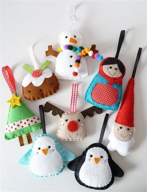 Handmade Tree Ideas - felt ornaments awesome decoration for