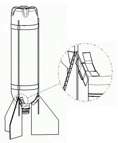 bottle rocket fin template bottle rocket fin designs www pixshark images
