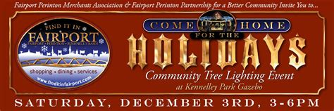 Come Home For The Holidays In Fairport Tree Lighting