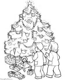 kid christmas tree coloring pages 003