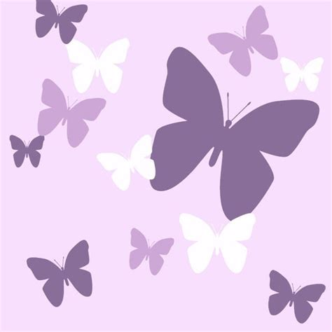 butterfly purple lilac and white wall decals - Purple Butterfly Wall Stickers