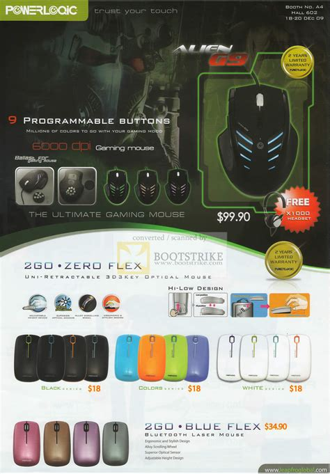 Mouse Powerlogic 2go Zero Flex powerlogic g9 gaming mouse 2go zero flex c3 2009