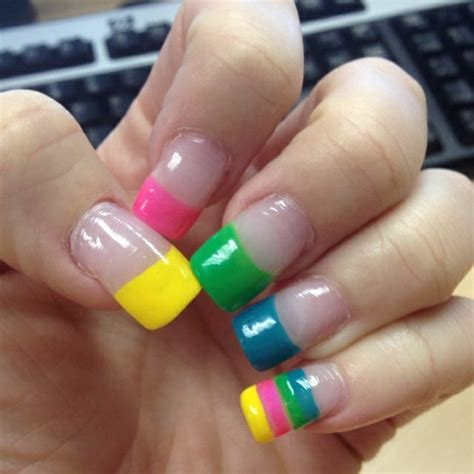 colorful nail colorful nail designs pccala