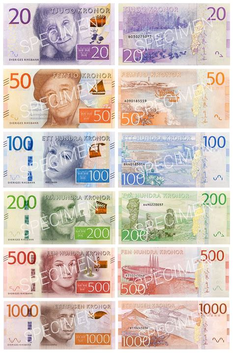 currency sek sweden s new bank notes and coins banknoteinfo