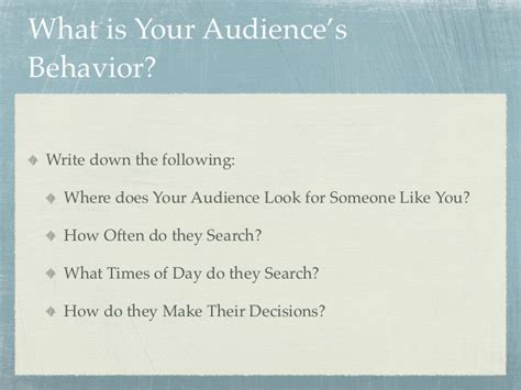Whos Your Audience by Personal Branding Who S Your Target Audience
