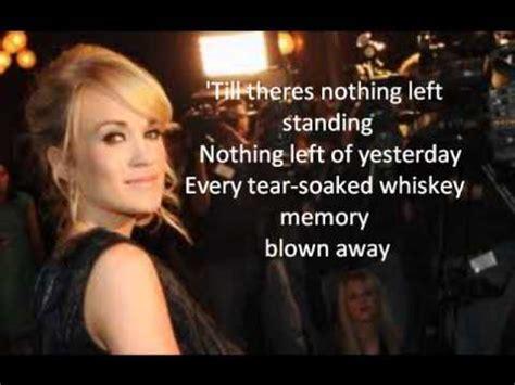 carrie underwood songs youtube carrie underwood blown away lyrics youtube