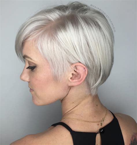side shaved bob 40 short summer haircuts for women with fine hair style