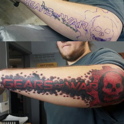 gorgeous gears of war tattoos tattoo artist magazine
