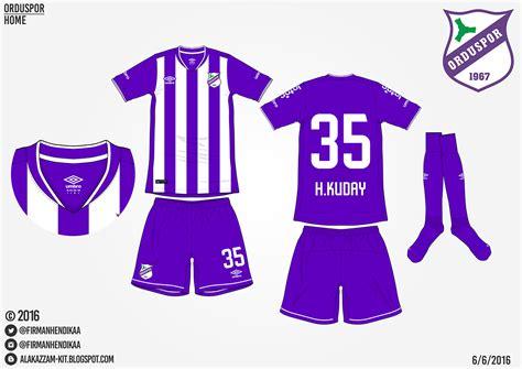 Promo Update 10 Sep Baju Kaos Olahraga Jersey Bola Setelan orduspor home away kits umbro alakazzam kit design