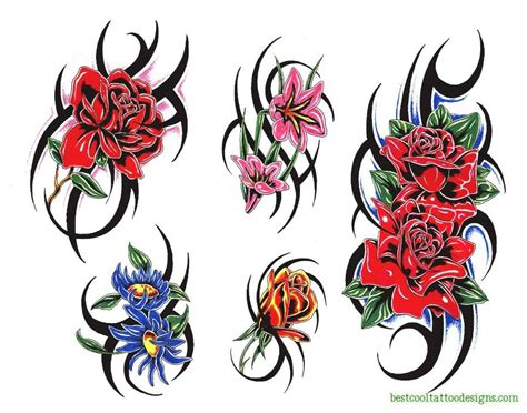 rose and tribal tattoo designs designs flash best cool designs