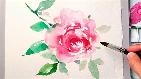 lvl watercolor flower painting wet  wet technique
