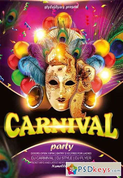 carnival party flyer carnival party flyer psd template facebook cover 187 free