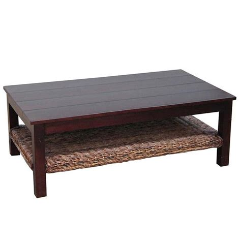 the importer coffee table wood top abaca