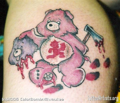 care bear tattoos designs evil care collection