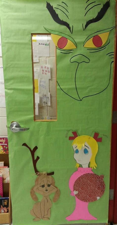 how the grinch stole door decorating ideas door board the grinch classroom ideas