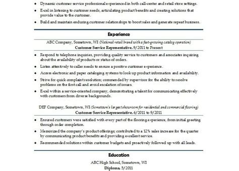 Free Customer Service Resume Templates by Sle Resumes Free Template Downloads