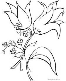 Galerry free easter flower coloring pages