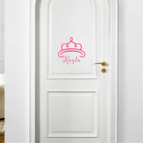 Door Decal by Princess Crown Personalized Vinyl Door Decal Front Door