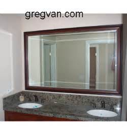 cherry framed mirrors for bathrooms cherry framed mirror vanity