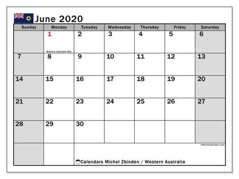 calendar june  western australia michel zbinden en
