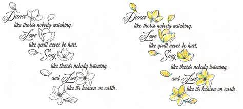 tattoo flower quotes jasmine flowers w quote by tattoosavage on deviantart