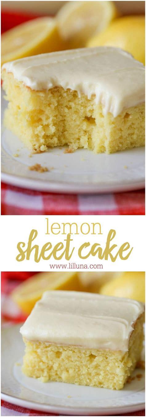 lemon sheet cake recipe lemon buttercream frosting