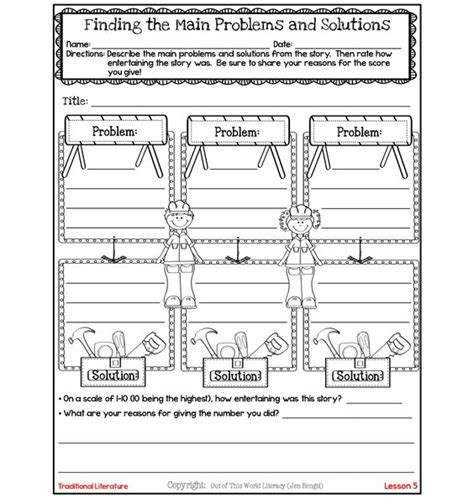 problem and solution reading worksheets reading problem and solution worksheets for 4th grade