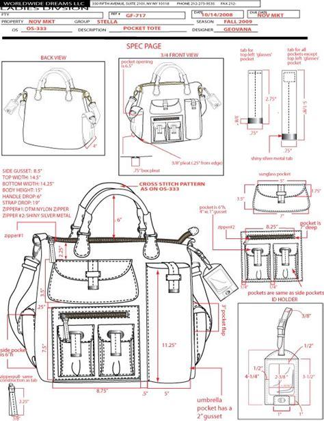 sketch make pattern technical sketches paula bonnafant diy leather craft