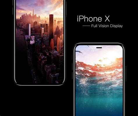 full vision display mobiles list new concept imagines iphone x with full vision display