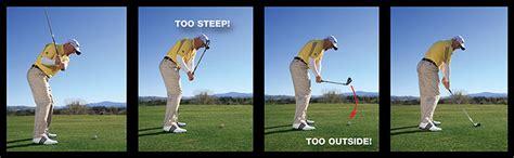golf swing too steep ironworks golf tips magazine