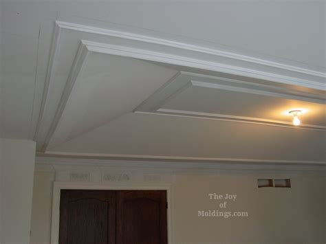 how to install molding trim on tray ceiling the joy of
