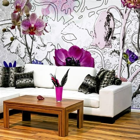 Wallpaper Ideas For Living Room Feature Wall by Feature Wall Wallpaper Ideas Living Room