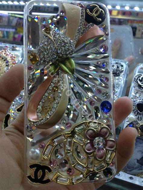 buy wholesale swarovski cases bling chanel flower covers for iphone 8 plus