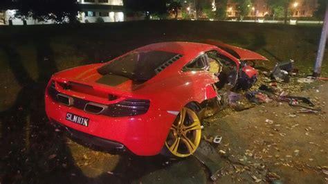 Independent Sports Cars 27 year trashes s 750k mclaren sports car in yishun