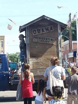 Angry Democrats Say Obama Outhouse Float At 4th Of July Parade Float Depicts Obama In Toilet Democratic