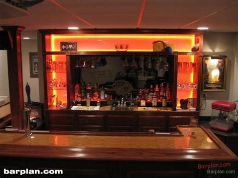 ehbp 11 illuminated bar back design easy home bar plans