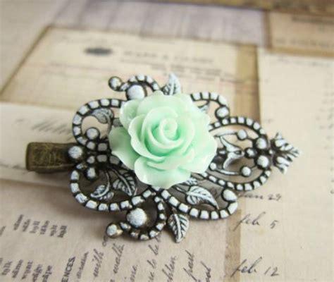 wedding hair accessories green wedding hair accessories mint green hair clip